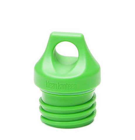 The green silicone water bottle loop cap is shown on its own.