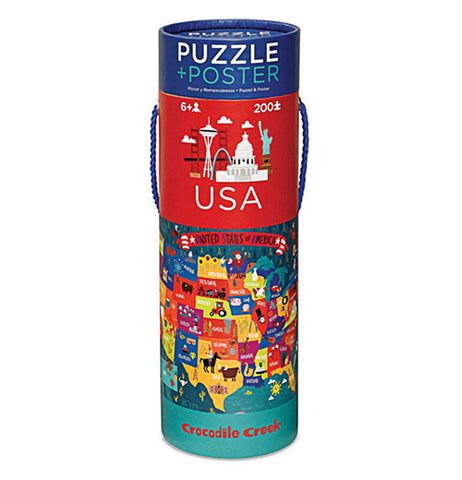 Carrying case for a 200 piece puzzle of the USA.