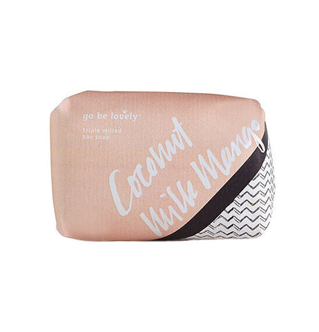 beige, black and white soap bar packaging