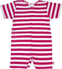 Bodysuit, Primary Stripe Fuchsia/White, 0-6M