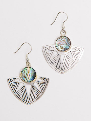 Earrings, Astral Point Silver