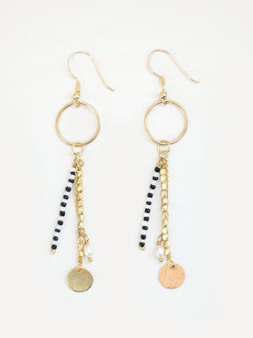 Earrings, King Cobra Gold
