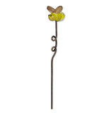 Mini garden firefly pick has green body with gold wings