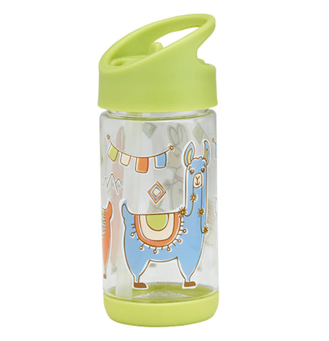 This lime-green 12 ounce llama themed semi-clear container is great for young children.