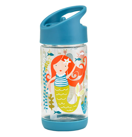 This see-through container featuring mermaids will delight young children.