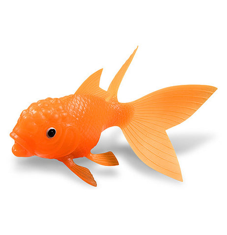 The orange koi fish toy is shown by itself.