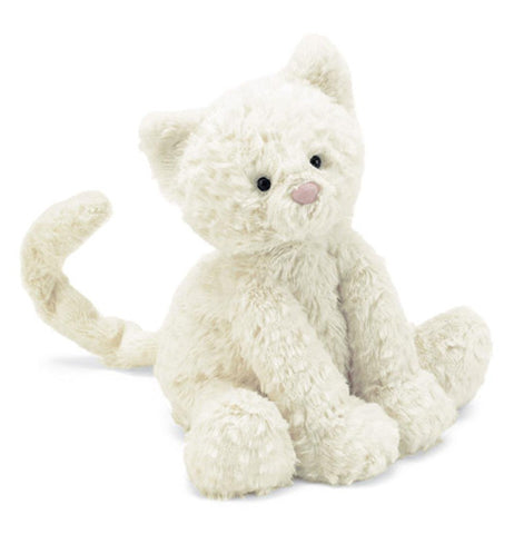 white kitten stuffed animal