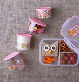"Snack Containers, Large (Set of 2) ""Hoot!"""