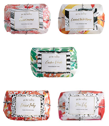 Set of 5 illume bar soaps multi colored packaging
