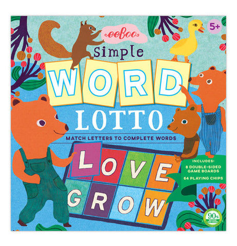 Cover of Word Lotto with a papa bear with his cubs.