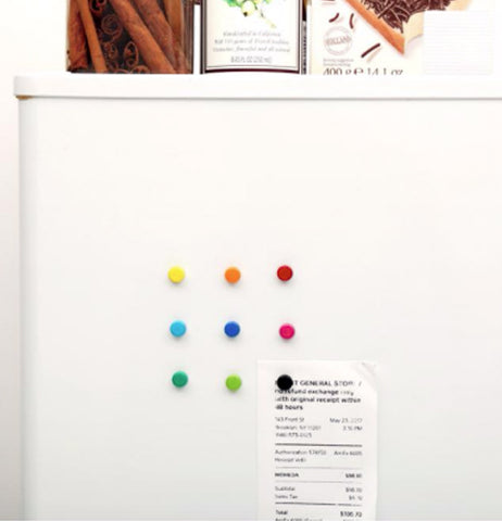 magnets on refrigerator