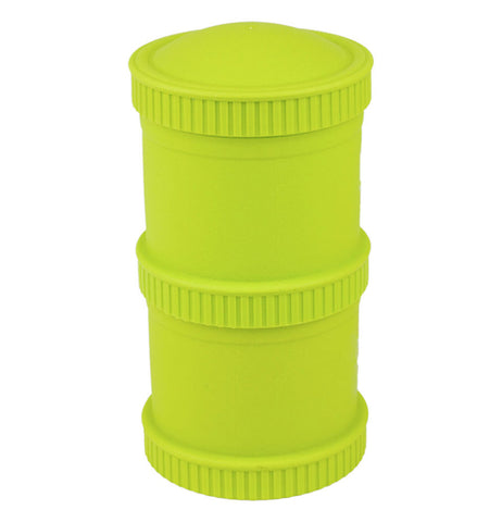"The Snack Stacks is ""Lime Green"" and has two snack stack pods with two lids."