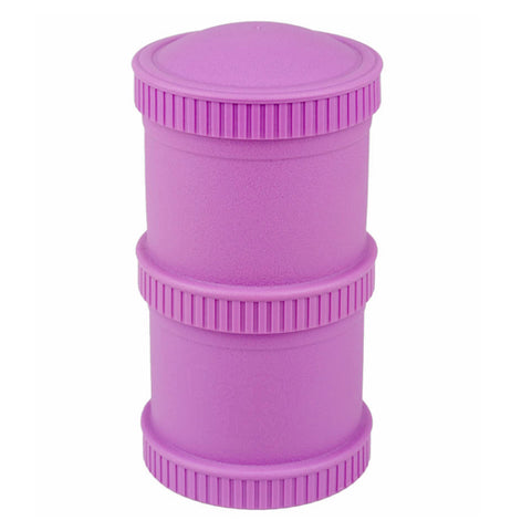 "The Snack Stacks comes in ""Purple that includes two snack stack pods with two lids."