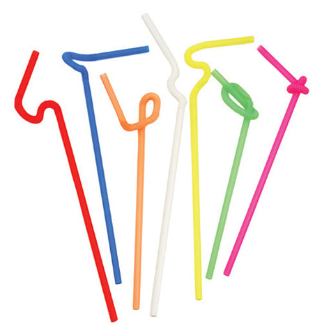 Set of fifty super bendy straws each one is a different color.