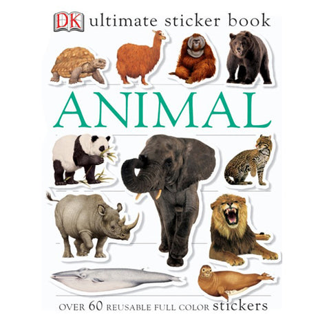 An animal themed sticker book featuring animals from around the globe