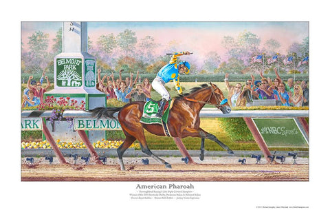 American Pharoah Painting by Michael Geraghty