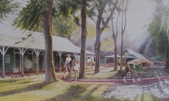 Backstretch Morning Saratoga