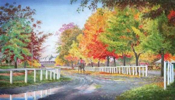 Autumn on the Backstretch ~ Saratoga
