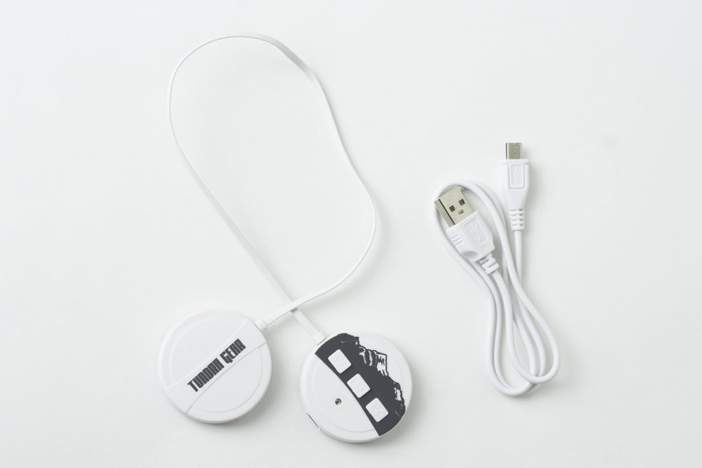 White Wireless Bluetooth Headband