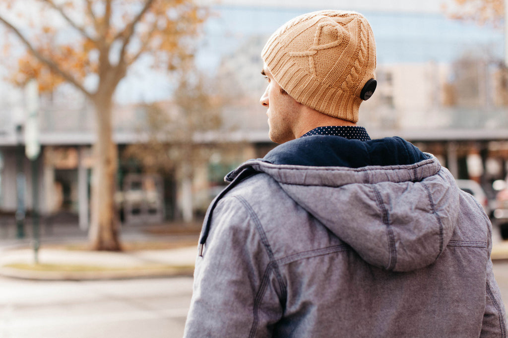 Highlands Oatmeal Bluetooth Beanie - Bluetooth Headphones - Bluetooth Hats
