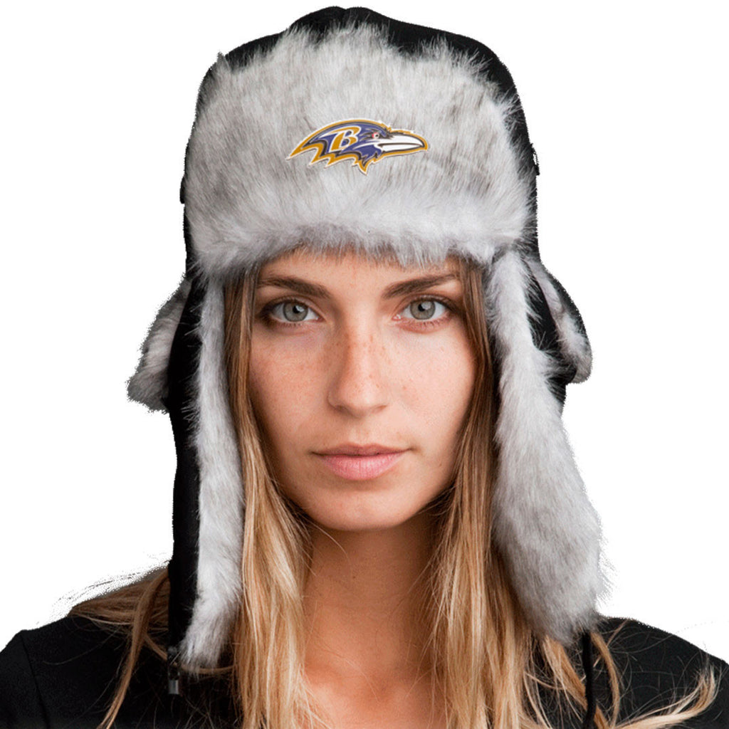 Trapper Hat + Baltimore Ravens Pin ($8 value)