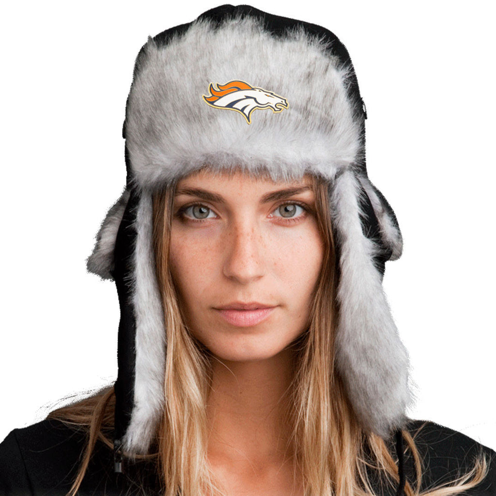 Trapper Hat + Denver Broncos Pin ($8 value)