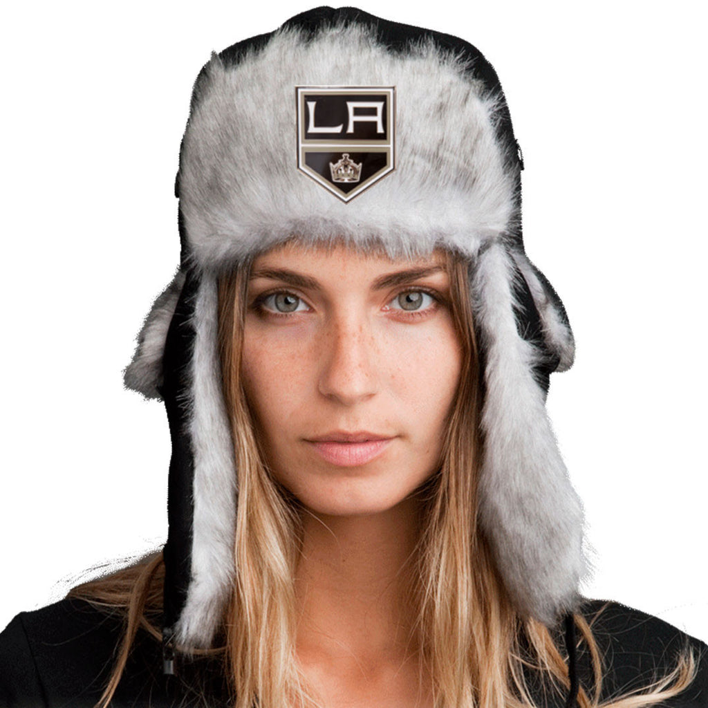 Trapper Hat + FREE LA Kings Pin  ($8 value!)