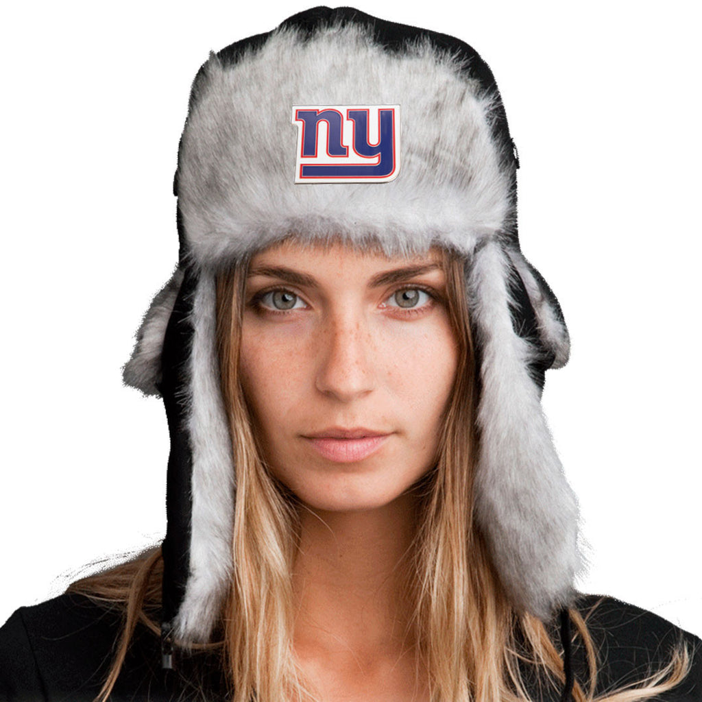 Trapper Hat + New York Giants Pin ($8 value)