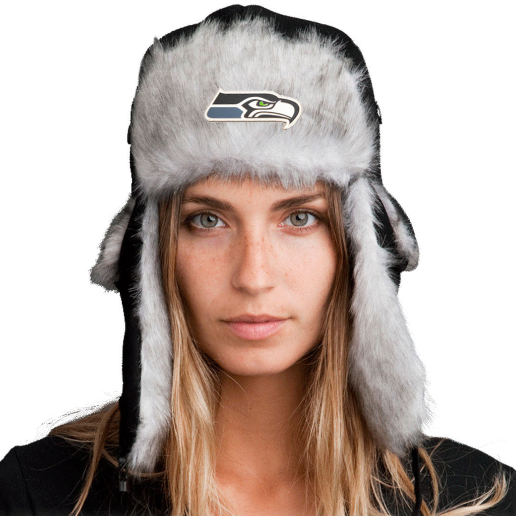 Trapper Hat + FREE Seattle Seahawks Pin <br> ($8 value!)
