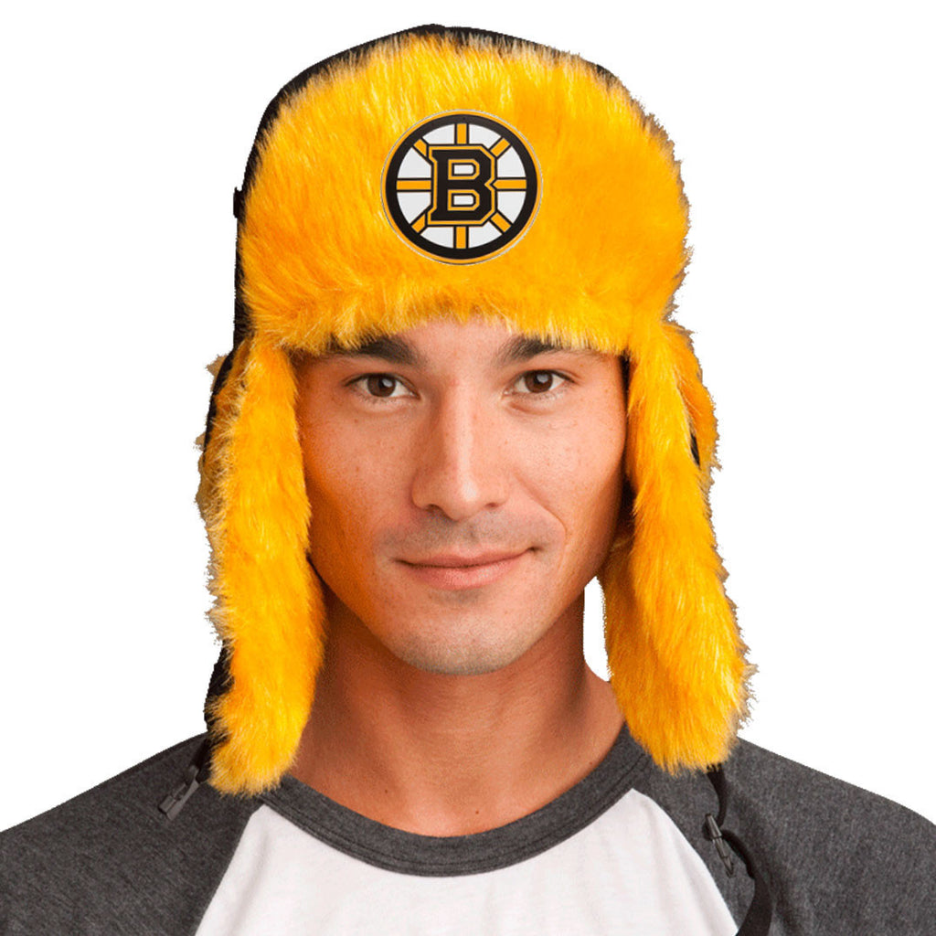 Trapper Hat + Boston Bruins Pin ($8 value)