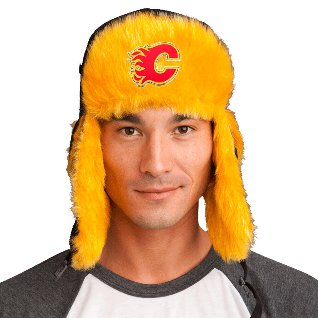 Trapper Hat + FREE Calgary Flames Pin <br> ($8 value!)