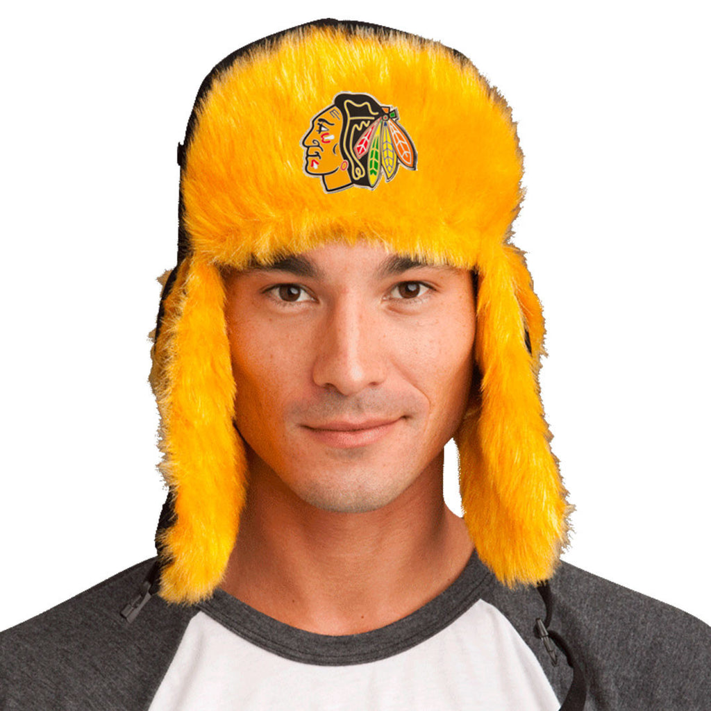 Trapper Hat + FREE Chicago Blackhawks Pin  ($8 value!)