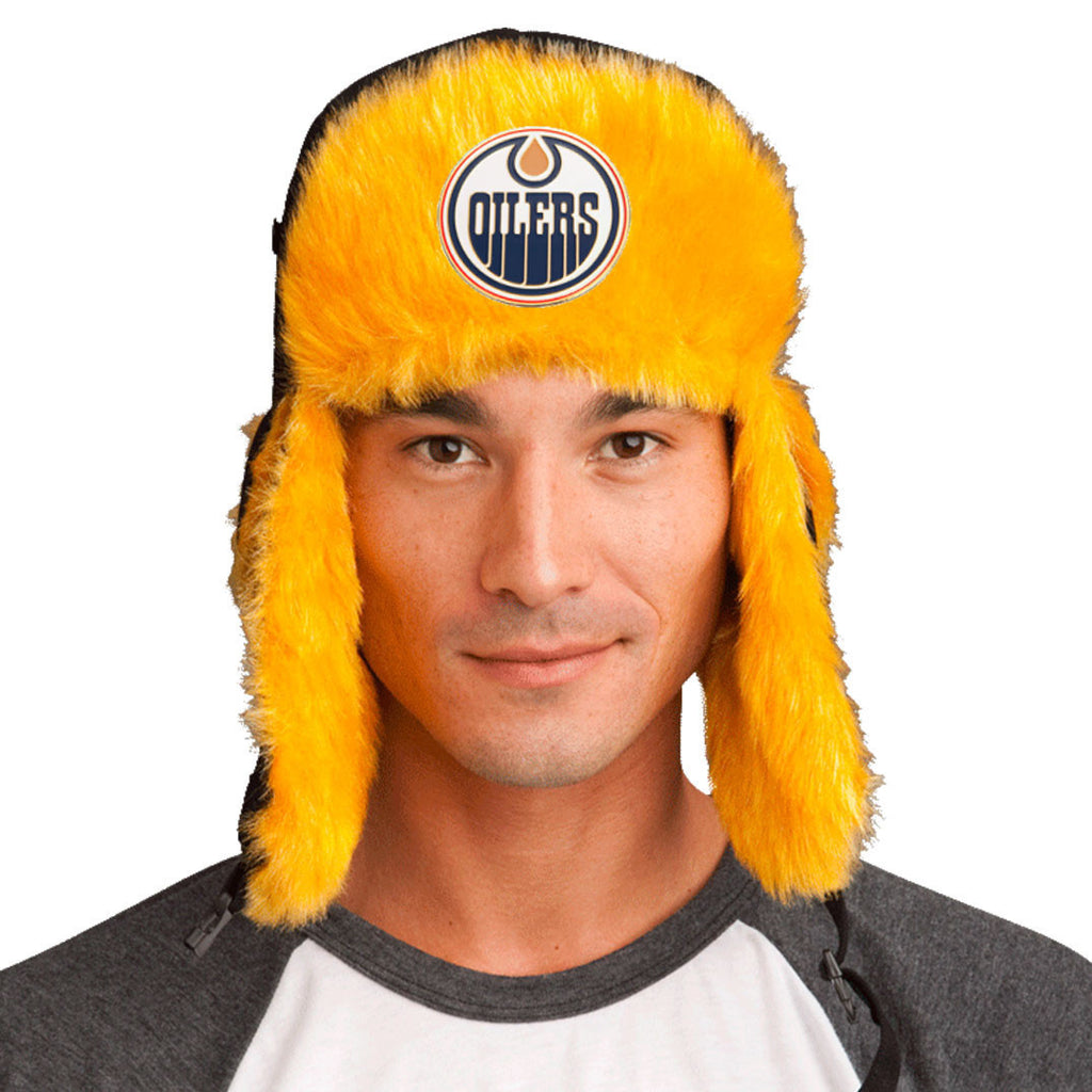 Trapper Hat + Edmonton Oilers Pin ($8 value)