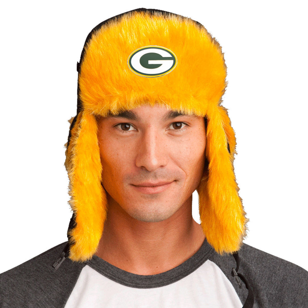 Trapper Hat + Green Bay Packers Pin ($8 value)