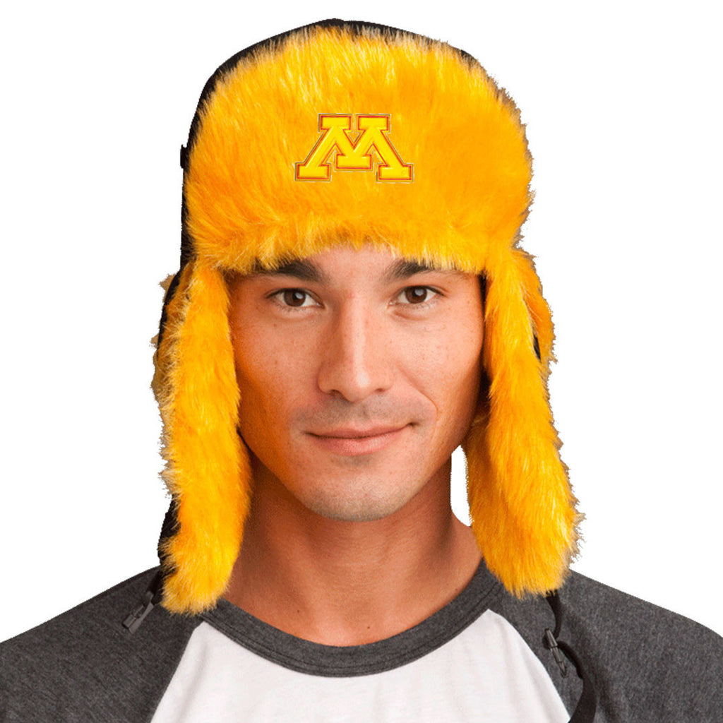 Trapper Hat + Minnesota Golden Gophers Pin ($8 value)