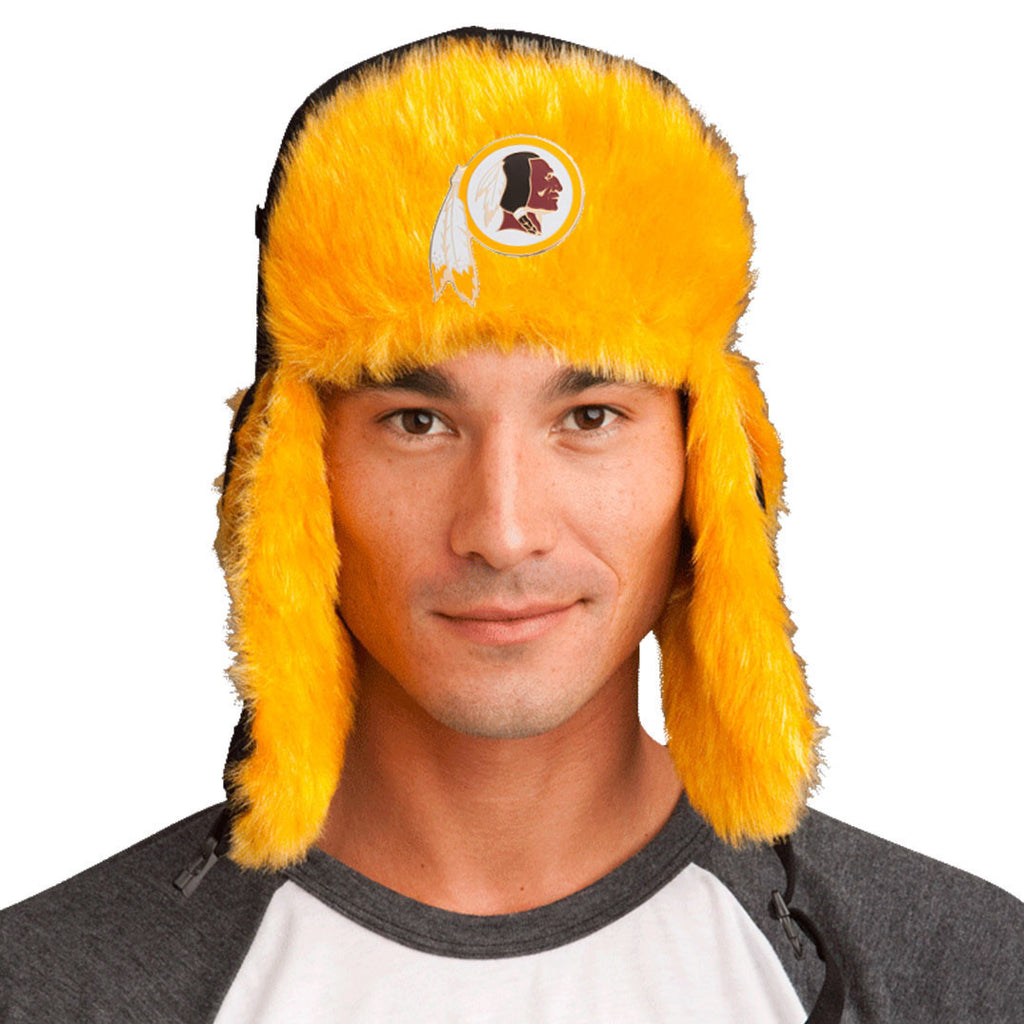Trapper Hat + Washington Redskins Pin  ($8 value!)