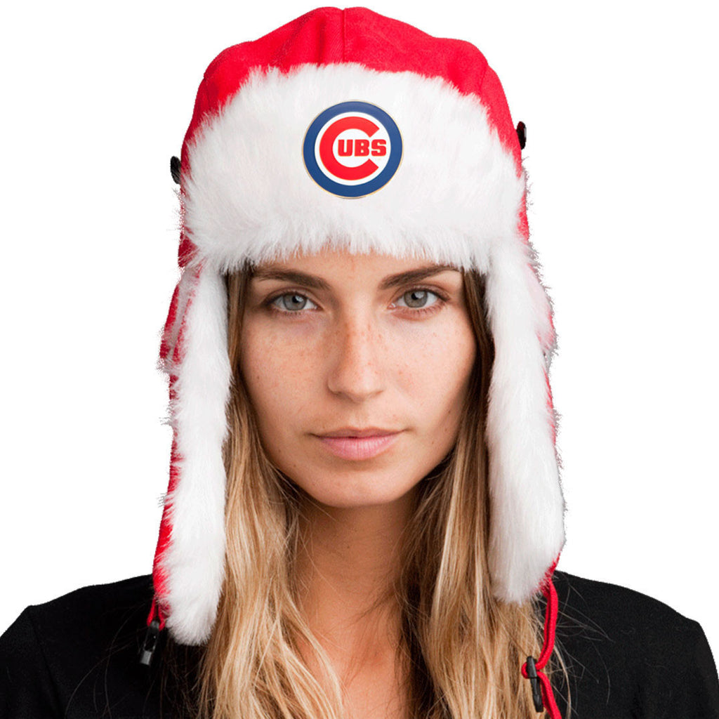 Trapper Hat + Chicago Cubs Pin ($8 value)