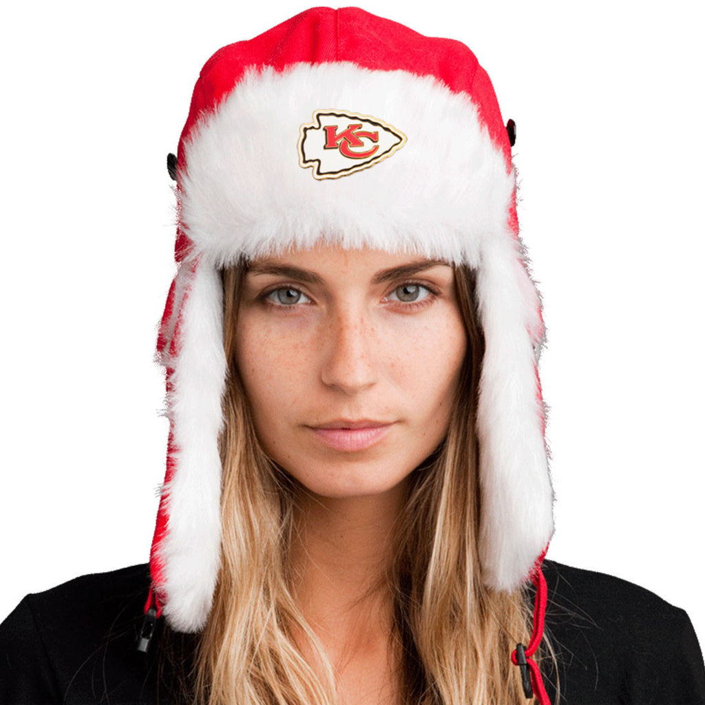 Trapper Hat + Kansas City Chiefs Pin ($8 value)