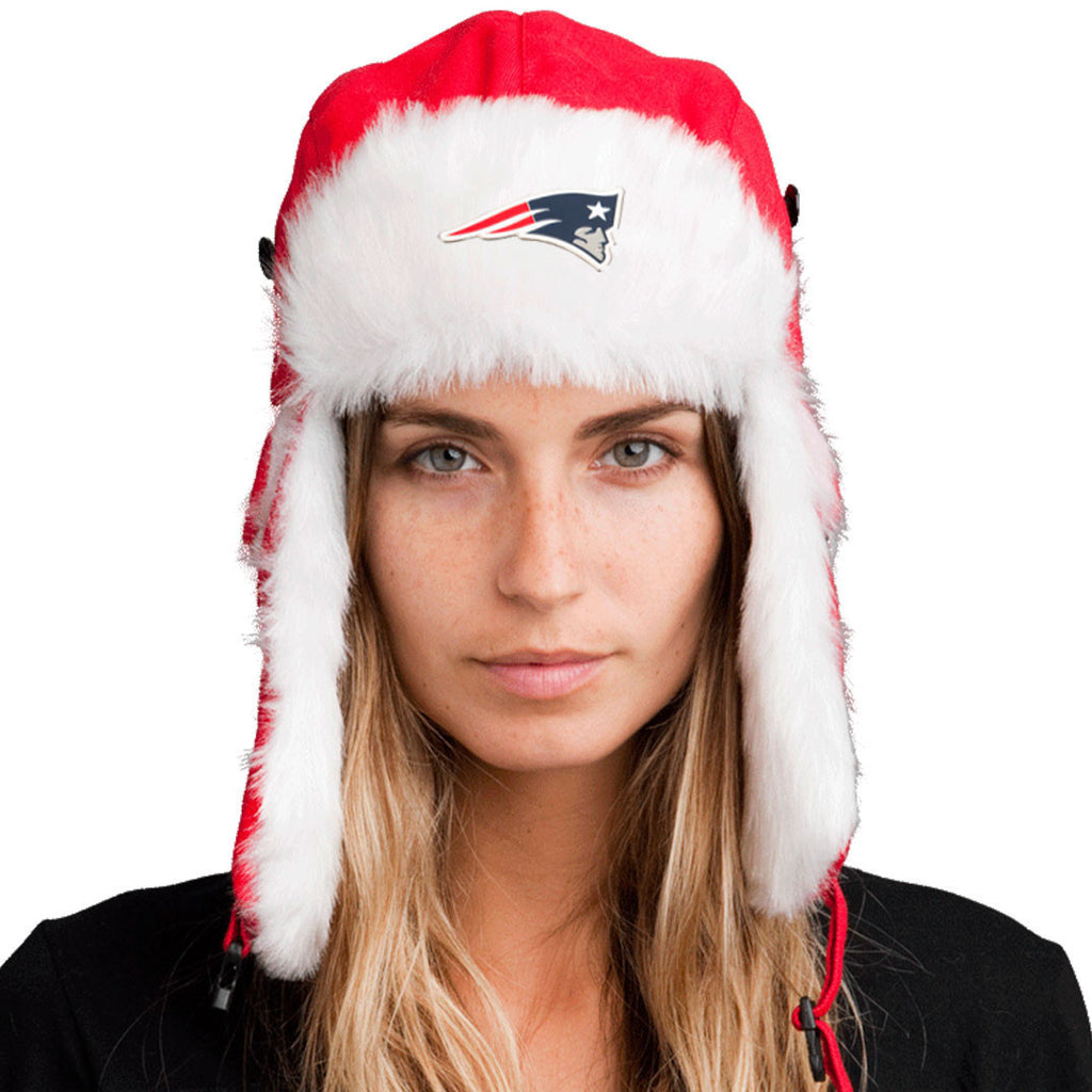 Trapper Hat + New England Patriots Pin ($8 value)