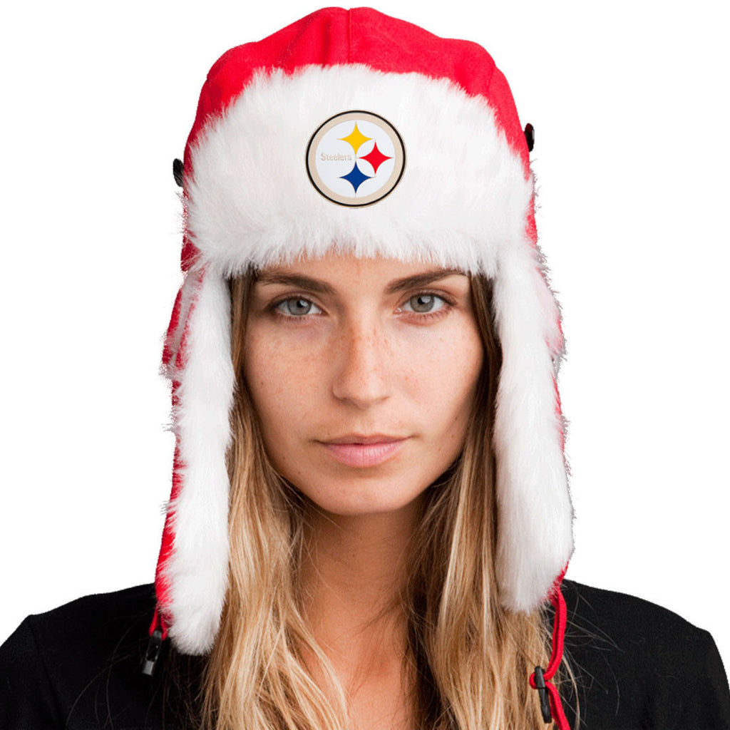 Trapper Hat + Pittsburgh Steelers Pin ($8 value)