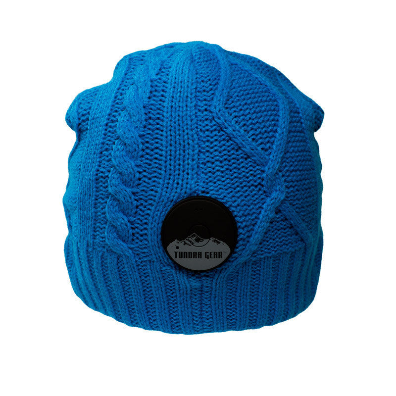 Tahoe Blue Bluetooth Beanie - Bluetooth Headphones - Bluetooth Hats