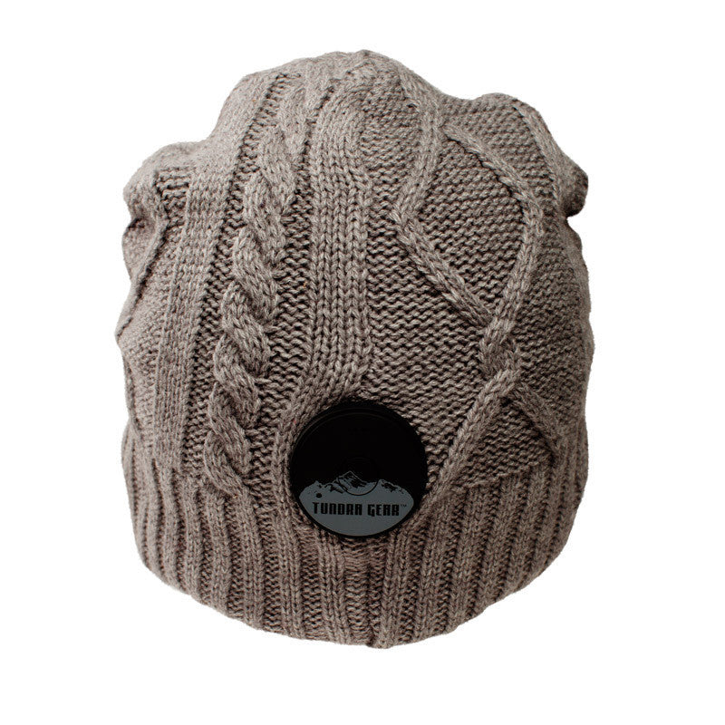 Timber Wolf Gray Bluetooth Beanie - Bluetooth Headphones - Bluetooth Hats