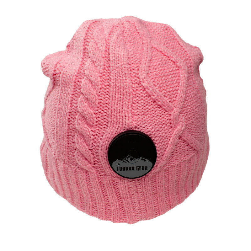 Wanderlust Pink Bluetooth Beanie - Bluetooth Headphones - Bluetooth Hats