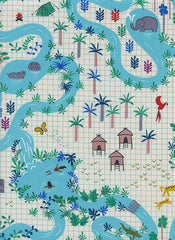 lagoon map by rashida coleman hale for cotton and steel