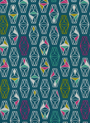 lively lanterns dark teal by rashida coleman hale cotton and steel