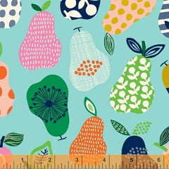 pears by carolyn gavin for windham fabrics 100% organic cotton