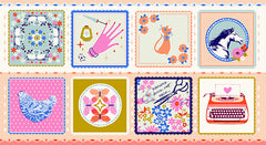 beauty shop hankie peach by cotton + steel fabrics melody miller sarah watts