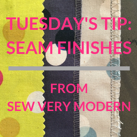 tuesday's tip from sew very modern seam finishes sewing tips by owl & drum