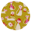 fancy cats yellow beauty shop by cotton + steel fabrics melody miller sarah watts
