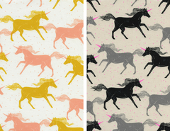 unicorns magic forest by sarah watts of cotton + steel fabrics
